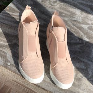 Blush Wedge Sneaker NIB